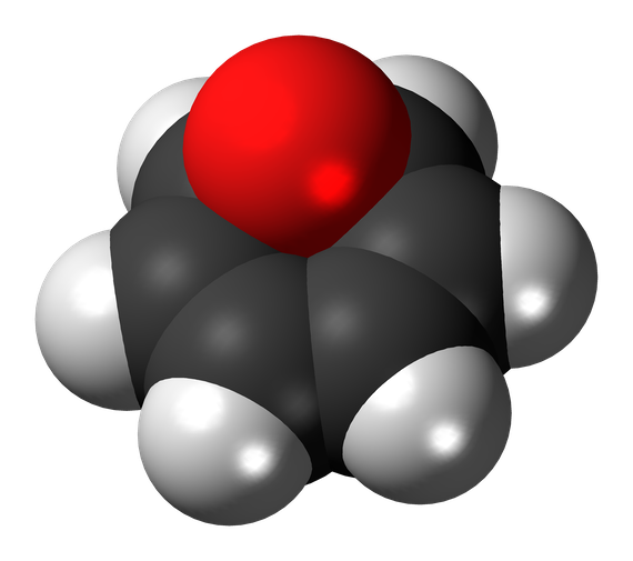 benzene-oxide-3d-spacefill