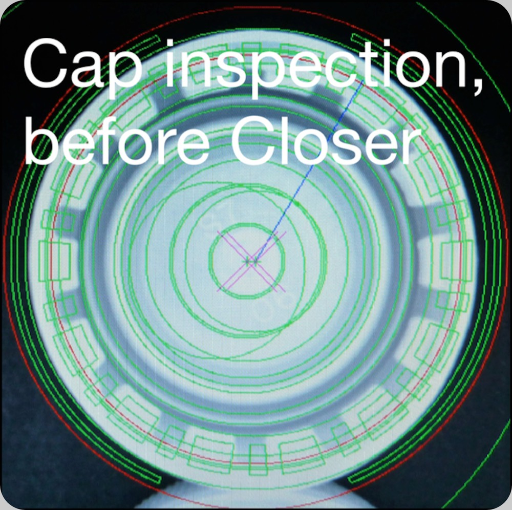 cap inspection before the capper