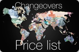 Changeovers-pricelist