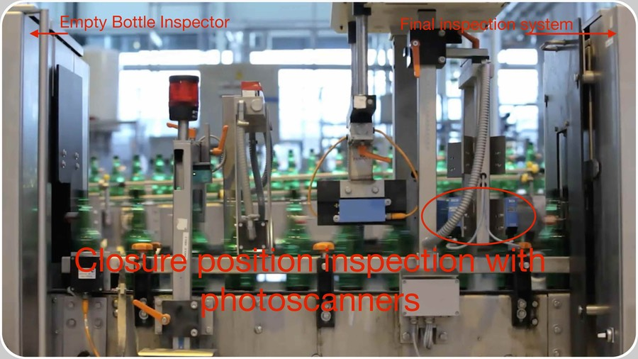 Closure position digital inspection with photoscanners