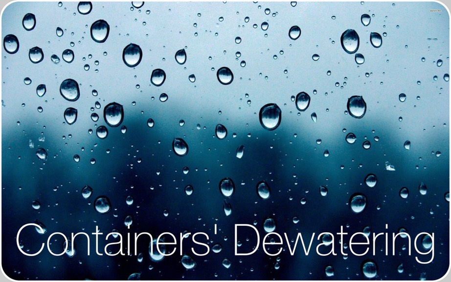 Containers Dewatering. Water drops influence negatively the final performances of the Cap Inspection enacted by mean of camera systems