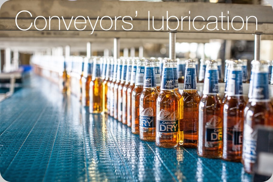Conveyors lubrication (Image credit SABMiller Plc, by Tom Parker/OneRedEye/OneRedEye)