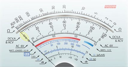 Dial. Decoherence implications apply to all measurements, including the legacy analog multimeters and its pointer position