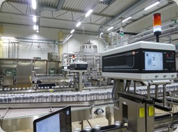 HEUFT VX™  Full Bottle Inspector, with sensors in the Filler, Labeller or Capper machines. The VX™ full bottle inspectors named below, here in the version with double X-ray bridge in a CARLSBERG Group® Brewery