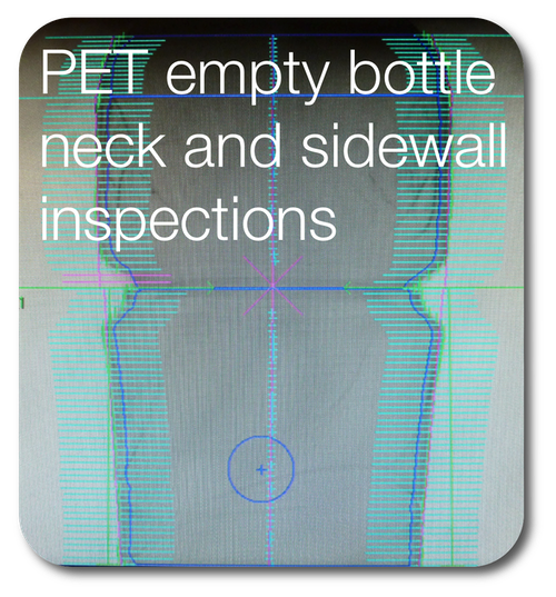 PET empty bottle neck and sidewall inspections