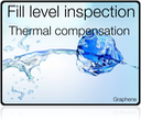 Thermal compensation of the fill level inspection