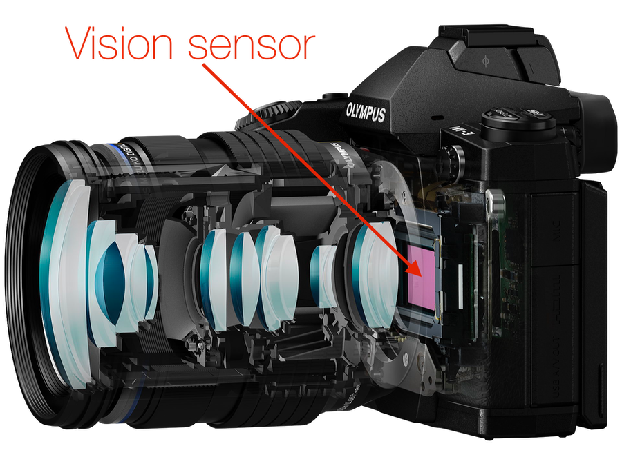 Vision sensor. All detectors, sensors or Observers however small, occupy a 3-dimensional volume. A frequently over sighted basic fact, with far reaching implications